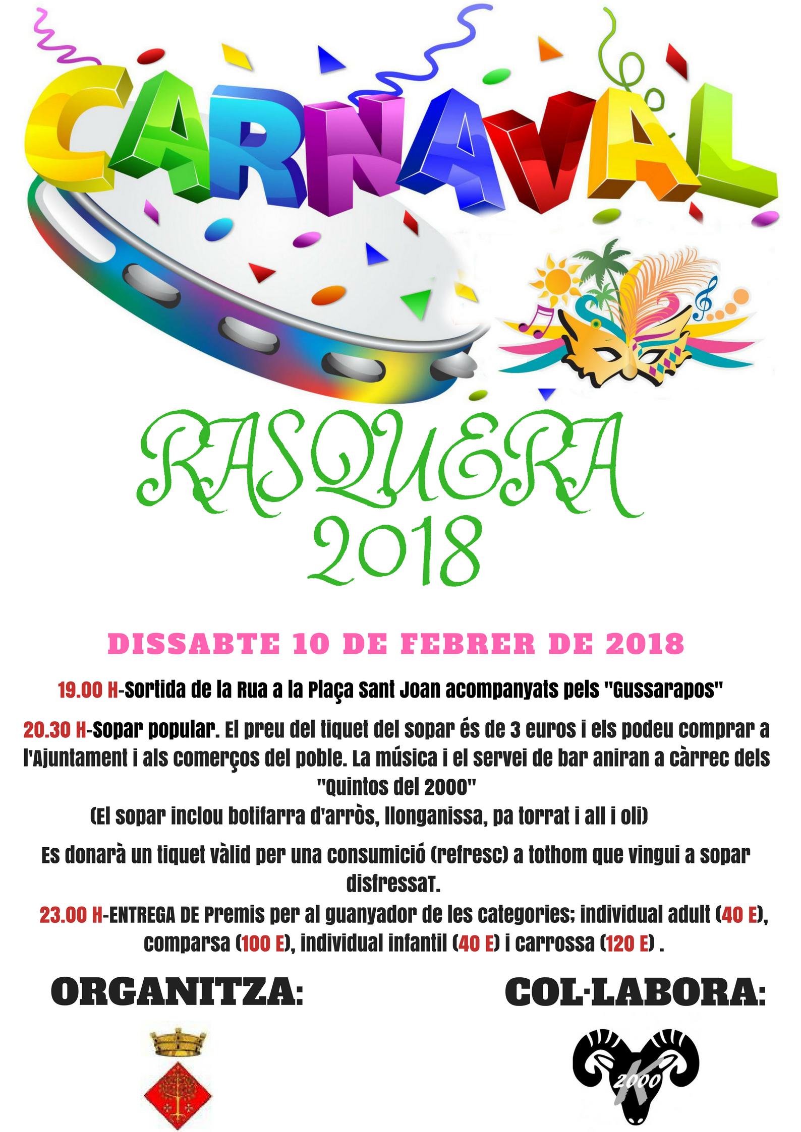 CARNAVAL DE RASQUERA 2018